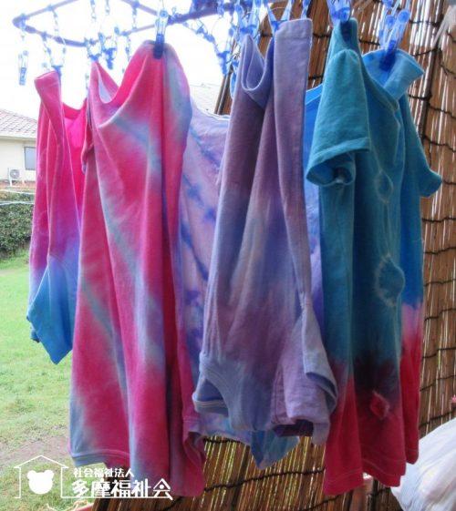 ♬砧保育園 Tシャツの絞り染めを行いました!